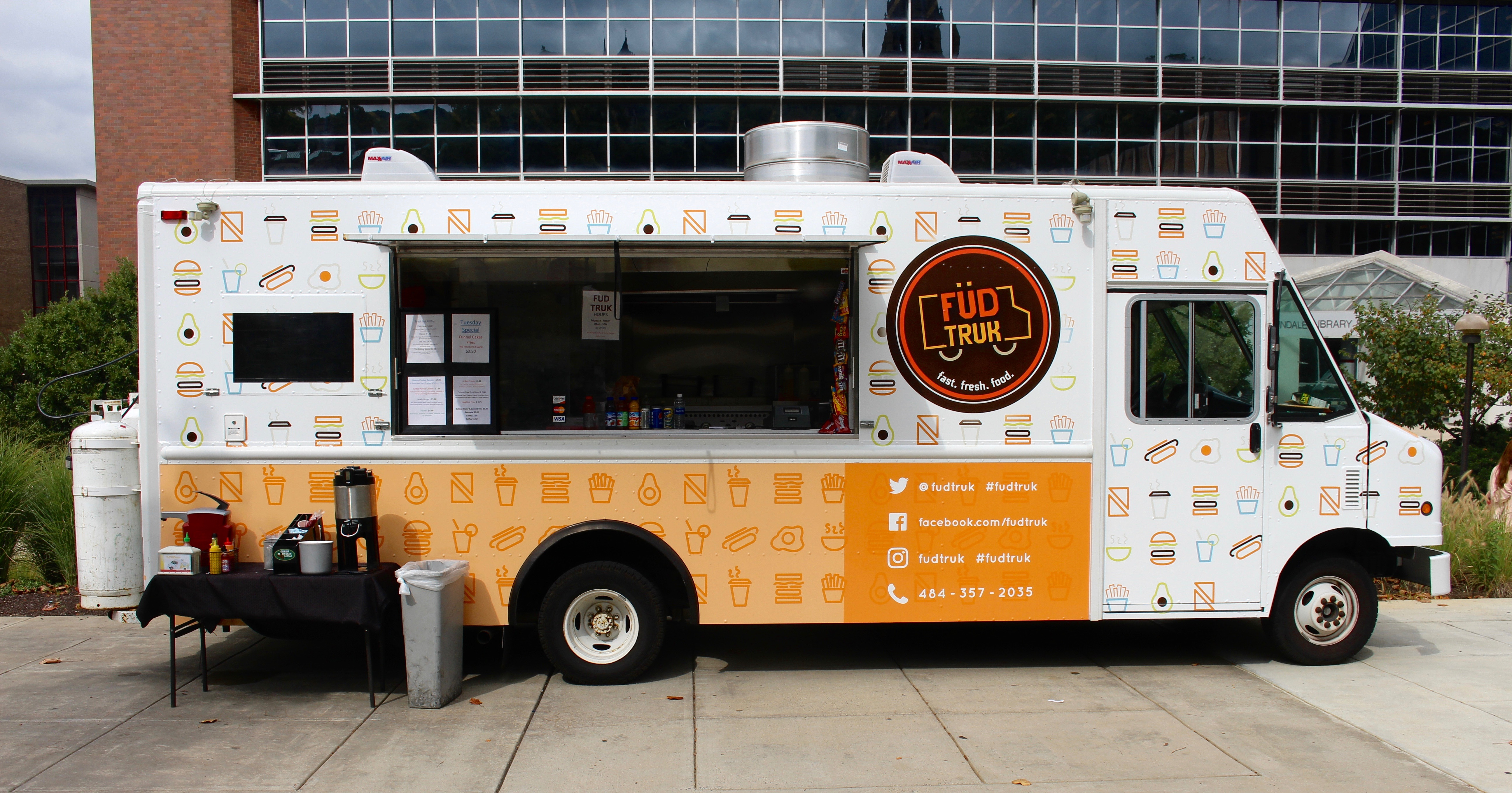 Fusion redesigns fud truk fusion studio for the past two years fusion has had the opportunity to design the exterior of lehighs fud truk a go to spot for breakfast and lunch or a quick snack altavistaventures Choice Image