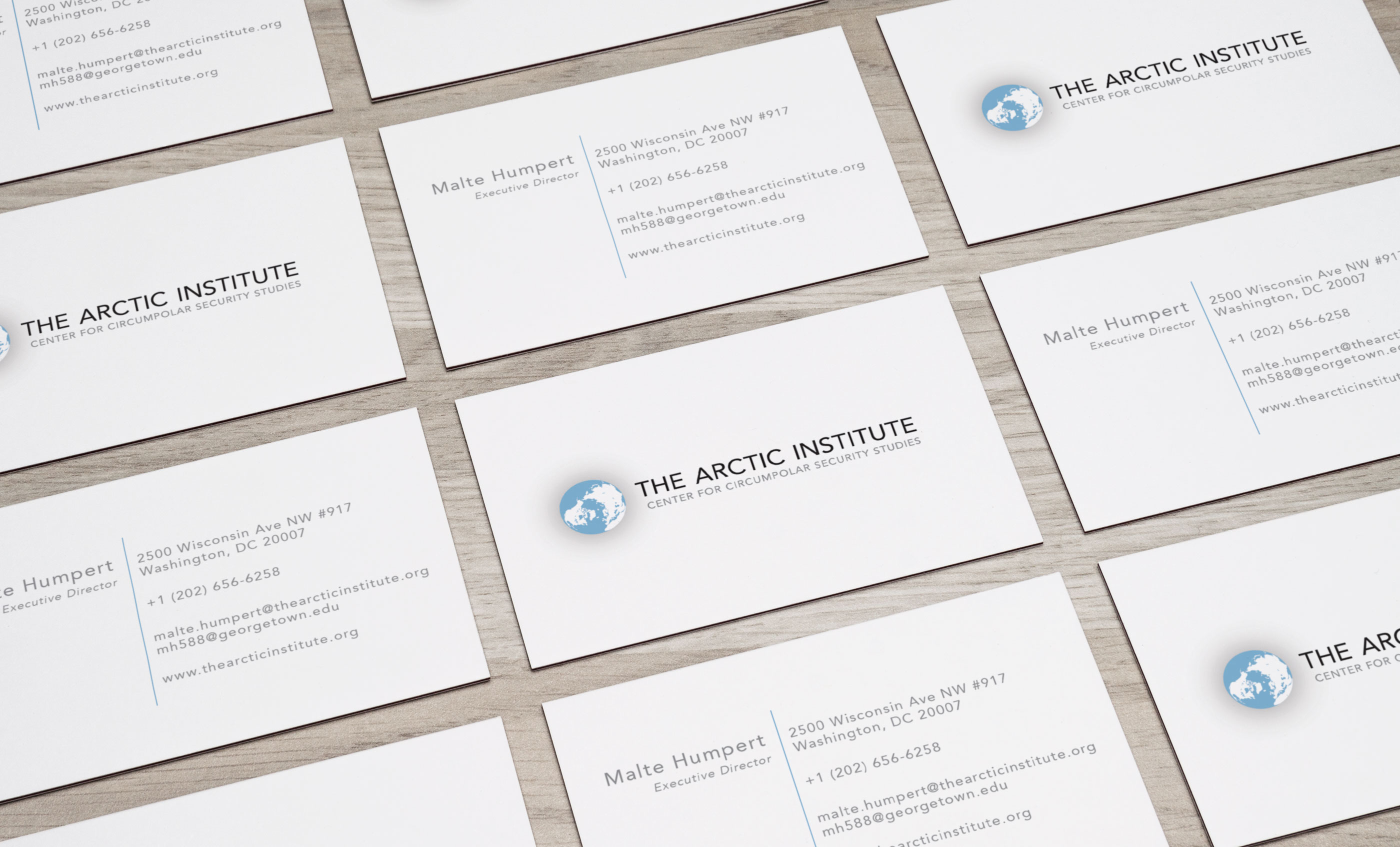 The Arctic Institute Business Cards Fusion Lehigh