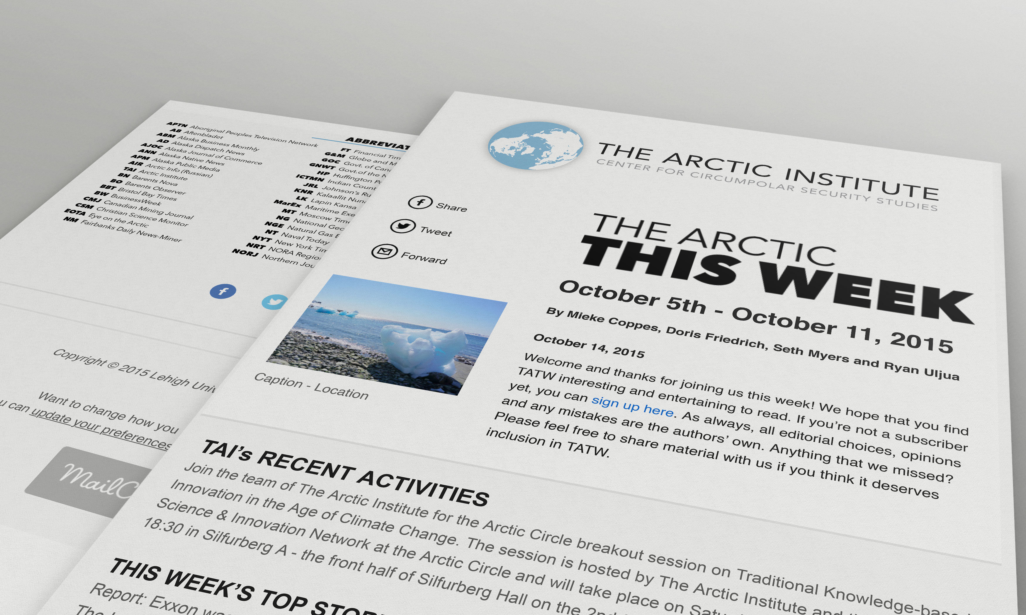 The Arctic Institute Newsletter Fusion Lehigh